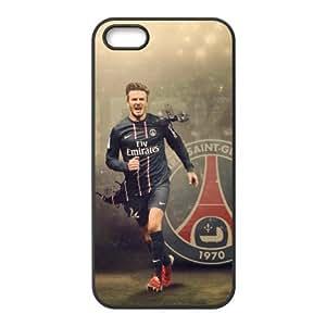The Football Star David Beckham for Apple iPhone 5/5S Black Case Hardcore-3