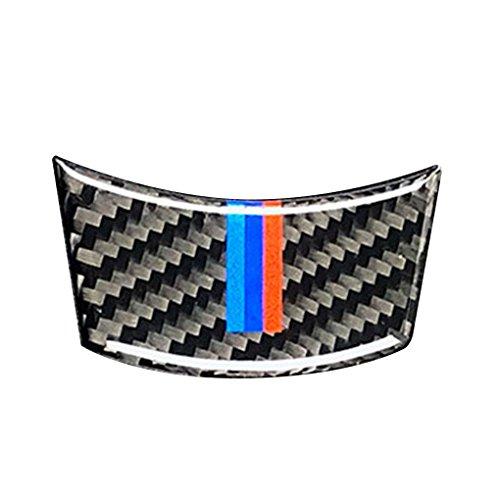 (Zerama for BMW 2004-2010 5 Series E60 Carbon Fiber M-Stripe Car Steering Wheel Cover Trim Interior Decor Decal Accessory)