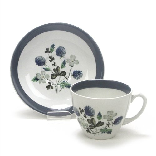 Blue Clover by Alfred Meakin, Ironstone Cup & Saucer