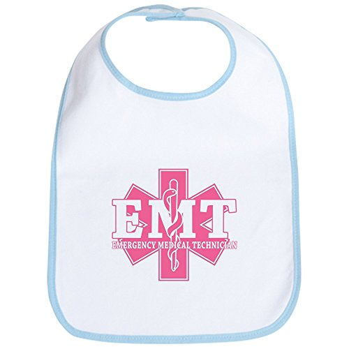 CafePress - Star Of Life EMT - Pink Bib - Cute Cloth Baby Bib, Toddler Bib
