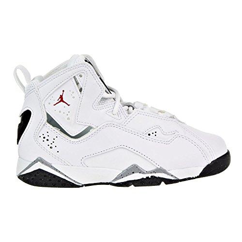 (Nike Boy's Jordan True Flight Basketball Shoe (PS), White/Gym Red-Black-Wolf Grey 10.5C)