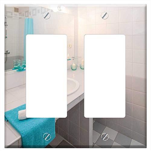 Switch Plate Double Rocker/GFCI - Bathroom Sink Mirror Apartment Room - Switch Bathroom Rocker Mirrors
