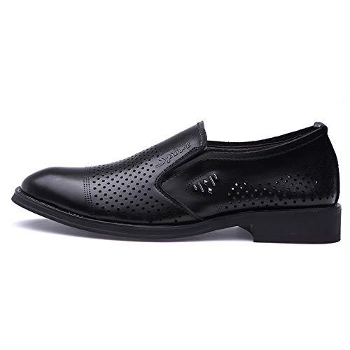 Oxford y Oxford Mocasines para Casual Hombre Trabajo Transpirables Caminar un Ligero Perforation de Ofgcfbvxd para Slip Negro pie On de Fashion Calzado Pedal cómodos Zapatos para Formales W0fvn