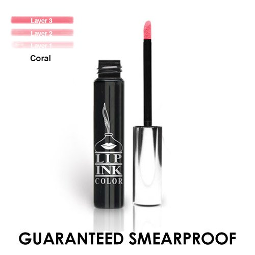 LIP INK Organic Vegan 100% Smearproof Liquid Lipstick - Coral