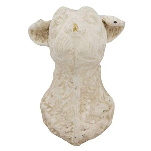 (My Swanky Home White Scottish Terrier Wall Hook | Dog Head Holder Decorative Art Sculpture)