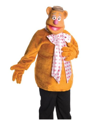 The Muppets Fozzie Bear Costume With Mask, Brown, One Size (Fozzie Bear Adult Costume)