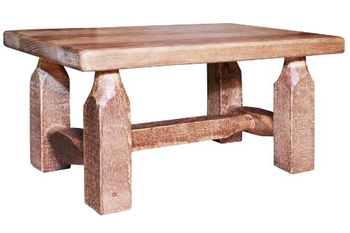 Montana Woodworks Homestead Collection Footstool, Stain and Lacquer (Wood Frame Footstool)