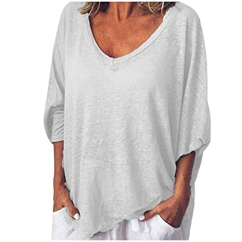 Mebamook Women's Scoop Neck A-Line Tunic Blouse Striped Off Shoulder Bell Sleeve Shirt Tie Knot Casual Blouses White