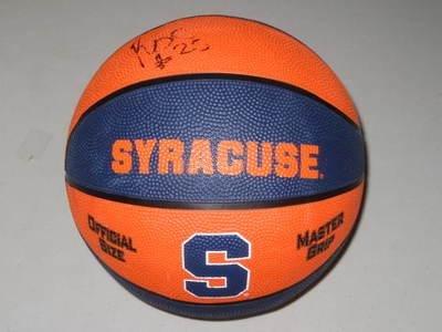Rakeem Christmas Syracuse Orange Signed Full Size Logo Basketball