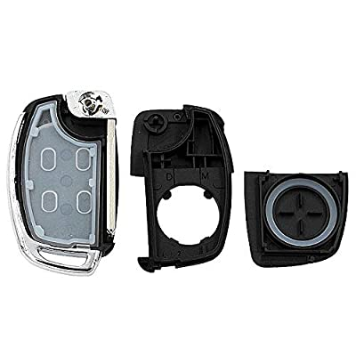 Remote Key Case Fob 4 Button Flip Folding Car Key Cover Shell for Mistra Hyundai HB20 Santa FE IX35 IX45 Accent I40 Solaris: Car Electronics