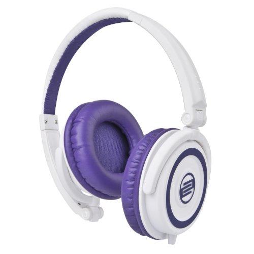 Reloop RHP-5 – Auriculares para DJ con micrófono (Public performance, Binaurale, Diadema, Púrpura, Color blanco, Alámbrico, 3.5 mm (1/8″))