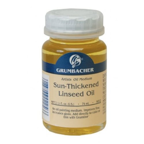 Grumbacher GB5832 74ml Sun-Thickened Linseed Oil CHARTPAK