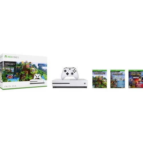 Xbox One S 1Tb Console - Minecraft Creators Bundle (Discontinued) (Best Xbox Live Games)