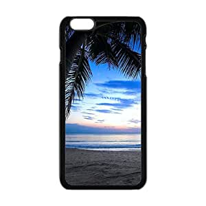 Beach View Black Phone Case for Iphone6 plus