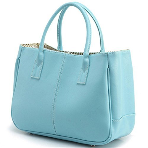 (Symbolove Womens Pu Leather Handbag Lady's Line Tote Bags-C4)