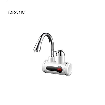 Grifo De Calentador De Agua Caliente Eléctrico Calentador De Agua Eléctrico Sin Tanque Cocina Calentador Led