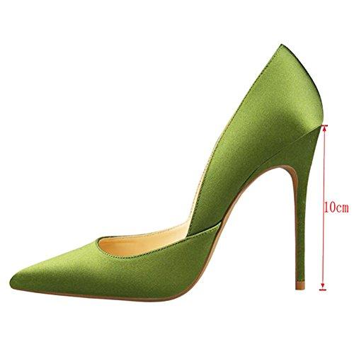 EKS - Zapatos de vestir de Seda para mujer Verde