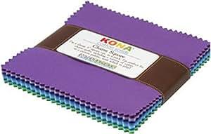 Robert Kaufman CHS-158-43 Kona Cotton Solids Sunset Charm Square 43 5-inch Squares Charm Pack