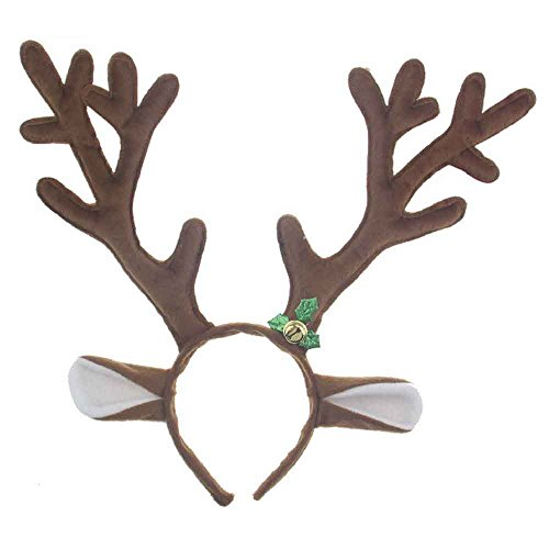 Pagreberya Reindeer Antlers Headband Christmas and Easter Party Headbands]()