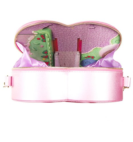 Heart Pink Body Polly Shaped Bag Cross Pocket Polly Pink vwAIH