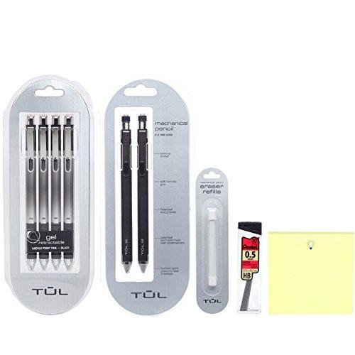 TUL Needlepoint Gel Pens, Mechanical Pencils, Lead, Eraser Refills, Post-Its Bundle