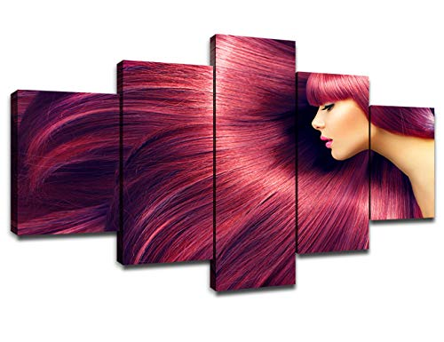 Chicicio Hair Salon Wall Decor Canvas Art Pictures Poster Framed Prints Hairdressing Paintings Artwork Room Decorations Ready to Hang(60''Wx32''H)