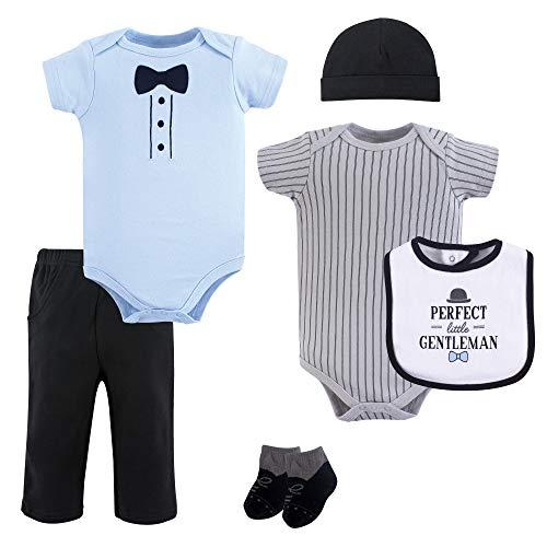 (Hudson Baby Unisex Baby Layette, Little Gentleman, 6-Piece Set, 9-12 Months (12M))