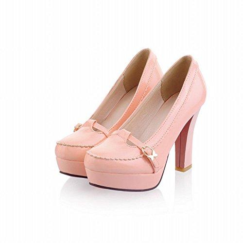 High Womens Pumps Platform Loafers Fashion Heeled Pink Heel Latasa T6wqOEA