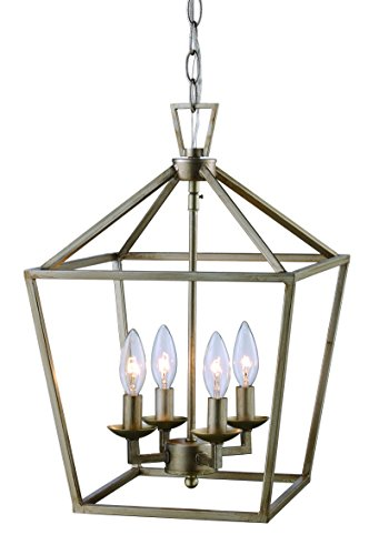 "Trans Globe Lighting 10264 ASL Indoor Lacey 12"" Pendant, Antique Silver Leaf"