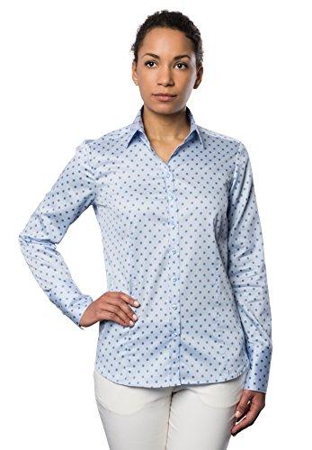 ETERNA long sleeve Blouse COMFORT FIT printed Azul