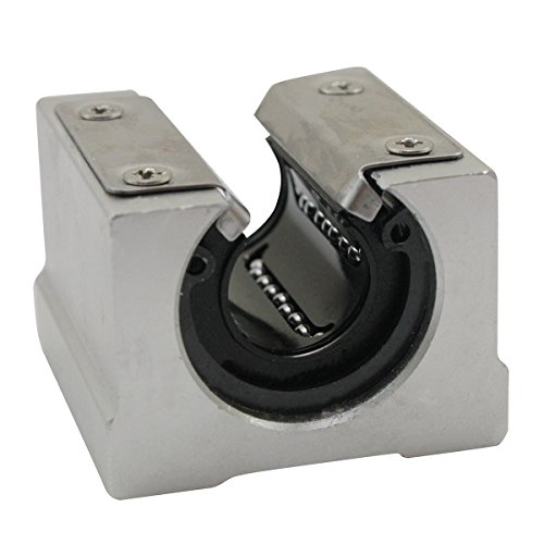 SBR20UU 20mm Open Linear Router Motion Ball Bearing Pillow Block(pack of 4) (Block Mm 20 Bearing)
