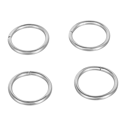 (HooAMI 500pcs Stainless Steel Open Jump Rings Connectors Jewelry Findings Silver Tone 10mmx1mm)