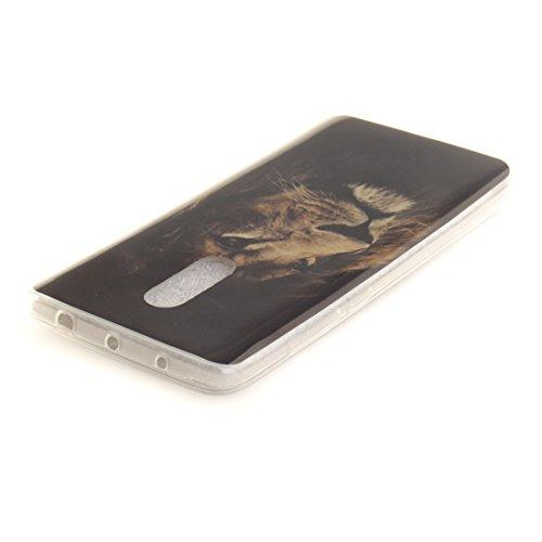 tiger Couverture Transparent Hozor Fit Antichoc Cas Motif Cas Protection Redmi En Souple Slim Arrière Peint TPU Résistant Xiaomi Téléphone De Bord Note 4X Scratch De Silicone Sqx4wpSP