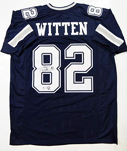 Jason Witten Autographed Blue Pro Style Jersey - Beckett Auth 8