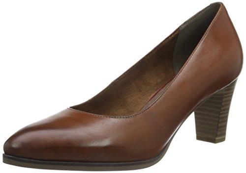 Tamaris Women's 22422 Closed-Toe Pumps, Black, 8 UK Brown (Cognac 305)