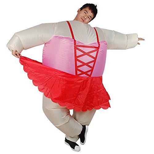 Inflatable Ballerina Costume (Halloween Inflatable Ballerina Costume Fat Suit Blow Up Fancy Dress)