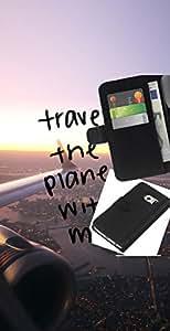 KLONGSHOP // Tirón de la caja Cartera de cuero con ranuras para tarjetas - Viajes El Planeta - Samsung Galaxy S6 EDGE //