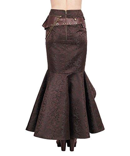 JapanAttitude - Falda - para mujer marrón