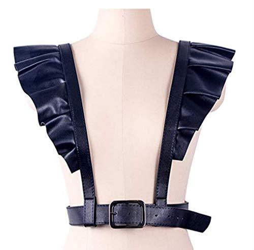 WISDOMTOY Women's Punk Adjustable Leather Body Waist Harness