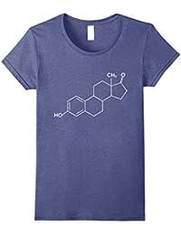 Estrogen Molecule Science Chemistry Biology fun t-shirt