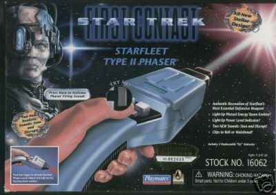 (Star Trek First Contact Starfleet Type II Phaser with Working Lights and Sounds)