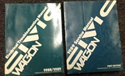 1989 honda civic wagon service shop repair workshop manual set w1989 honda civic wagon service shop repair workshop manual set w wiring diagram honda amazon com books