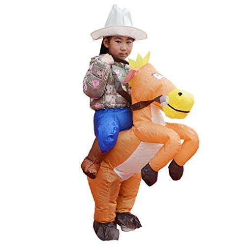 MagiDeal Funny Inflatable Horse Rider Costume Outfit Kids Children Fancy Dress 35cm -