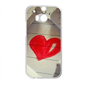 Paper Red Heart Fashion Personalized Phone Case For HTC M8