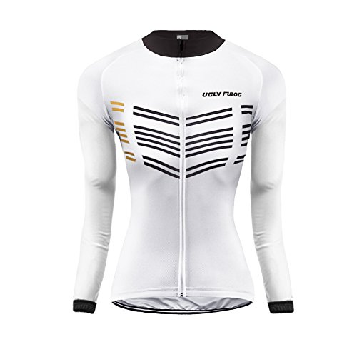 Moda Transpirable Mujer Largas Ropa Último Mangas Winter Uglyfrog 08 Cálido Deportiva Cremallera Completa Warm Ciclismo Maillots Color vz5wq