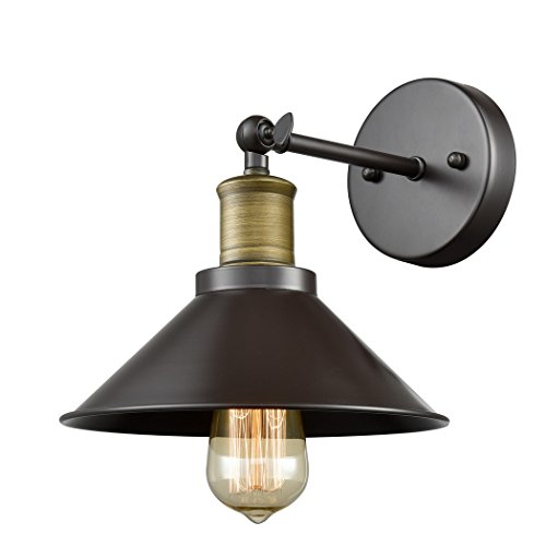 Industrial Wall Sconce Light CLAXY Vintage 1 Light Simplicity Wall Lamp-Oil Rubbed Bronze Finish