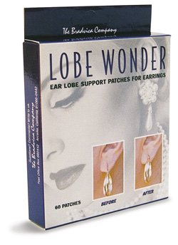 Lobe Wonder 300 Invisible Earring Ear-Lobe Support Patches - Provides Relief for Damaged, Streched Ear-Lobes and Helps Protect Healthy Ear Lobes Against Tearing