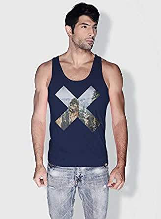 Creo Hunan X City Love Tanks Tops For Men - L, Blue