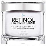 Retinol Night Moisturizer Cream for Face 2.5% with Collagen & Peptide Anti-Aging Complex