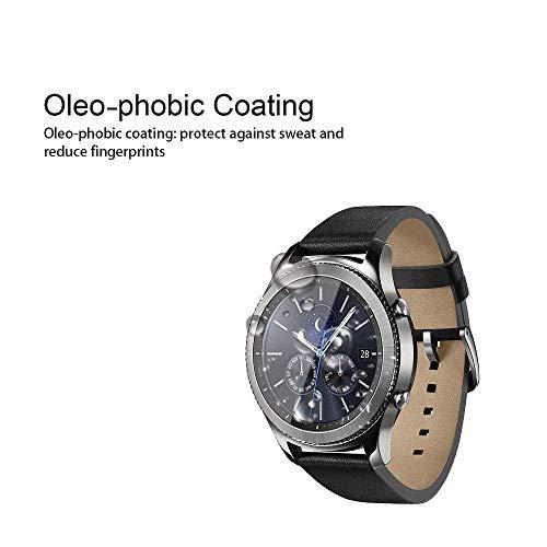 Supershieldz [2-Pack] para Samsung Galaxy Watch (46 mm) /Gear S3 Frontier Protector de pantalla de vidrio templado, antirrayas, antiagrasas, sin burbujas, reemplazo de por vida